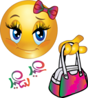 Cute Girl Feast Bag Smiley Emoticon