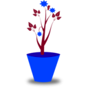 download Flower Pot clipart image with 225 hue color