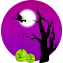 download Halloween Scene clipart image with 45 hue color