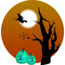 download Halloween Scene clipart image with 135 hue color