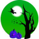 download Halloween Scene clipart image with 225 hue color