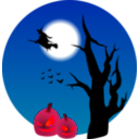 download Halloween Scene clipart image with 315 hue color