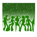 download Disco Dancers clipart image with 225 hue color