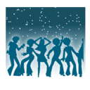 download Disco Dancers clipart image with 315 hue color