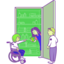 download Kids In Cupboard clipart image with 45 hue color