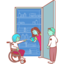 download Kids In Cupboard clipart image with 135 hue color