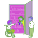 download Kids In Cupboard clipart image with 225 hue color