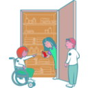 download Kids In Cupboard clipart image with 315 hue color