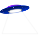 download Ufo clipart image with 225 hue color