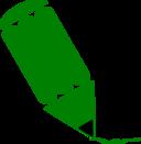 Pencil Stylized Green