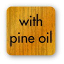 With Pine Oil Sticker