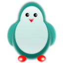 download Penguin clipart image with 315 hue color