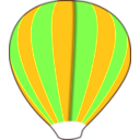 download Hot Air Balloon Work In Progress clipart image with 45 hue color