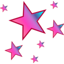 download Stars clipart image with 45 hue color