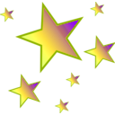 download Stars clipart image with 135 hue color