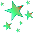 download Stars clipart image with 225 hue color