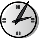 download Analog Clock clipart image with 225 hue color