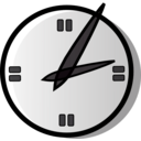 download Analog Clock clipart image with 315 hue color