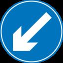 Roadsign Keep Left