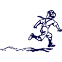 download Running Boy clipart image with 45 hue color