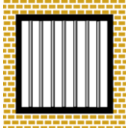 download Jail Bars clipart image with 45 hue color