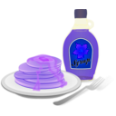 download Pancakes clipart image with 225 hue color
