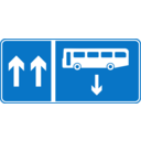 Roadsign Bus Opposite