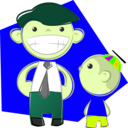 download Dad And Son clipart image with 45 hue color