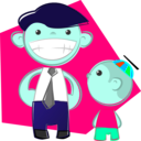 download Dad And Son clipart image with 135 hue color