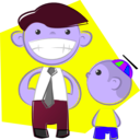 download Dad And Son clipart image with 225 hue color