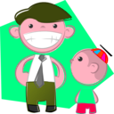 download Dad And Son clipart image with 315 hue color