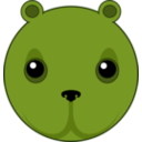 download Cute Bear Head clipart image with 45 hue color