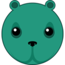 download Cute Bear Head clipart image with 135 hue color