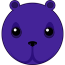 download Cute Bear Head clipart image with 225 hue color