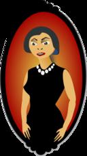 Women Portrait In Red
