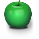 download Photorealistic Green Apple clipart image with 45 hue color