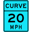 download Curve Speed 20 clipart image with 135 hue color