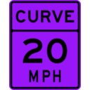 download Curve Speed 20 clipart image with 225 hue color