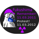 download Fukushima Protest 2012 clipart image with 225 hue color