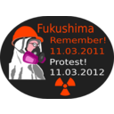 download Fukushima Protest 2012 clipart image with 315 hue color