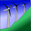download Windmills clipart image with 45 hue color