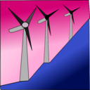 download Windmills clipart image with 135 hue color