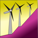 download Windmills clipart image with 225 hue color