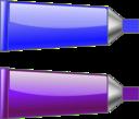Color Tube Blue Purple