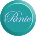 download Elegant Panic Button clipart image with 180 hue color