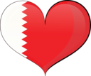 Bahrain Heart Flag