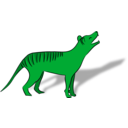 download Thylacine clipart image with 90 hue color