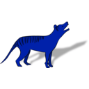 download Thylacine clipart image with 180 hue color