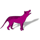 download Thylacine clipart image with 270 hue color
