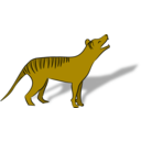 download Thylacine clipart image with 0 hue color